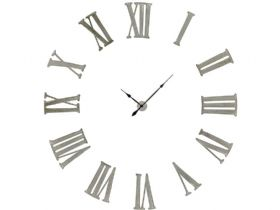 Antiqued Silver Battersea Numeral Clock