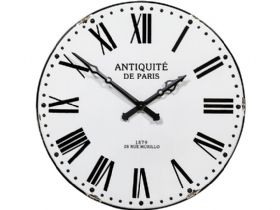 Antique White & Black Enamel Clock