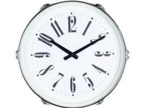 Silver Drum Wall Clock Face