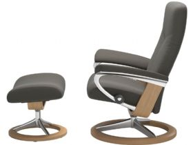 Stressless Dover Chair & Footstool with Signature Base Profile