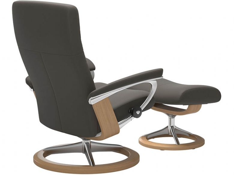 Stressless Dover Chair & Footstool with Signature Base