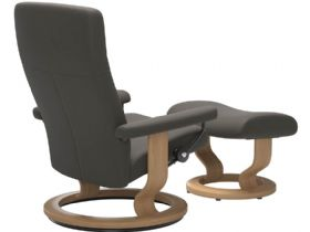 Stressless Dover Chair & Footstool with Classic Base