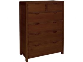 6 Drawer Tall Wide Chest