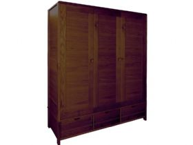 3 Door Wide Wardrobe
