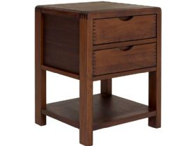 Ercol Bosco Dark 2 Drawer Side Table