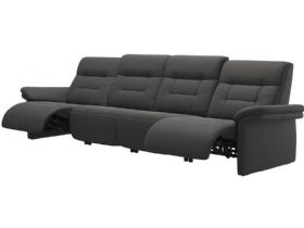 Stressless Mary Leather 4 Seater Sofa with 2 Power Motions