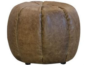 Pumpkin Leather stool