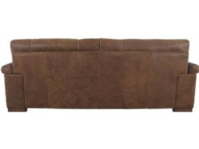 Mountback Leather 3 Seater Sofa Back