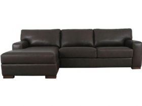 Redwood LHF Leather Sofa Bed