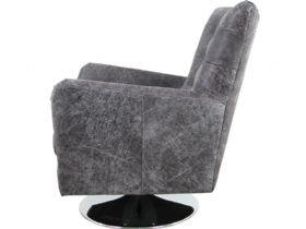 Canyon Leather Swivel Chair Side
