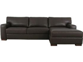 Redwood RHF Leather Sofa Bed