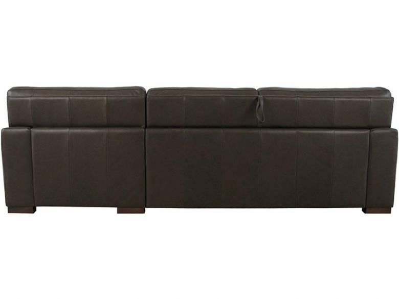 Redwood RHF Leather Sofa Bed with Ottoman