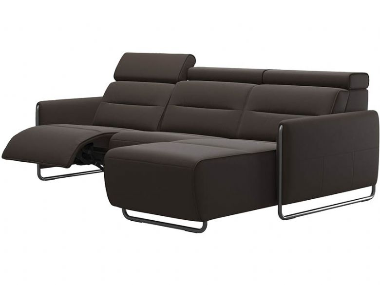 Stressless Emily Leather RHF Power Sofa with Chaise