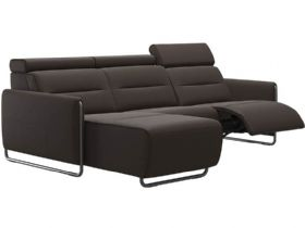 Stressless Emily Leather LHF Power Sofa with Chaise