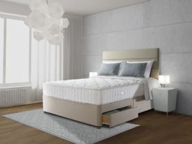 Sealy Genoa  Geltex kingsize divan and mattress at Lee Longlands