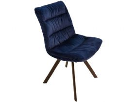 Faith Royal Blue Velvet Dining Chair