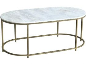 Alicia Brass and Marble Large Coffee Table