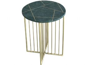 Estella Marble and Inlay Side Table