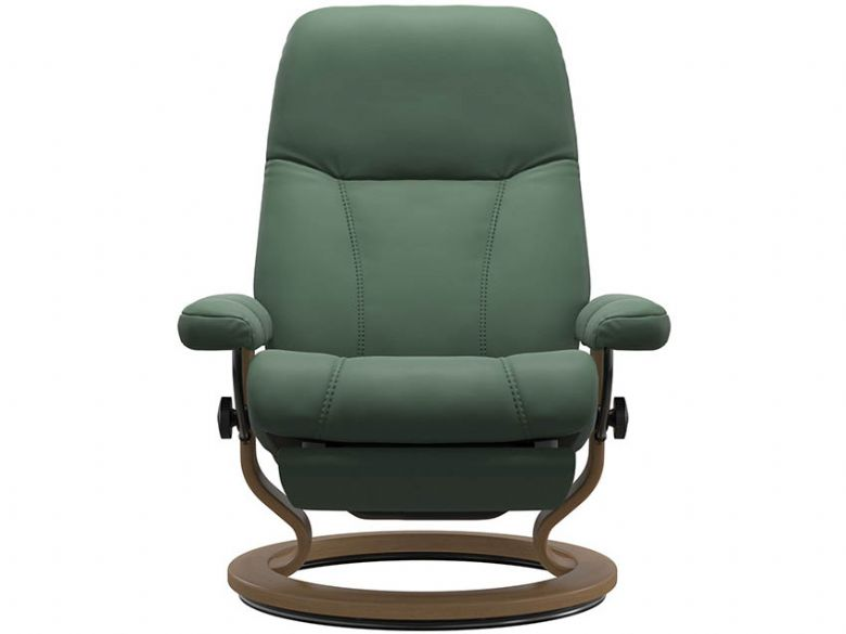 Stressless Consul Dual Motor Recliner in Paloma Dark Green