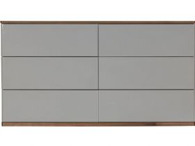 Grey 6 Drawer Wide Chest