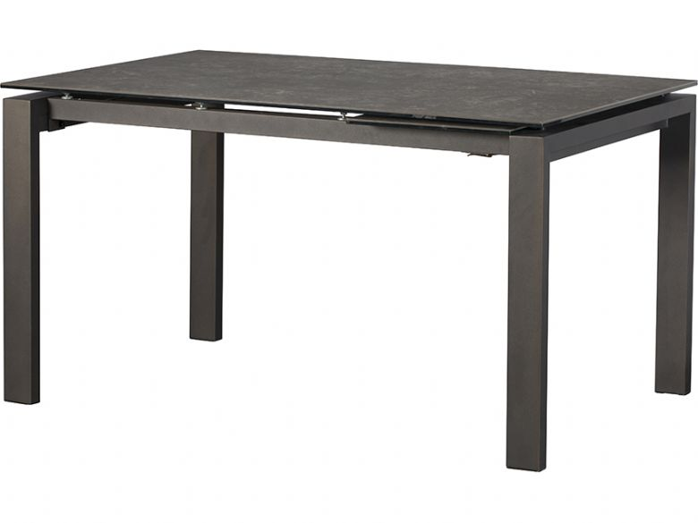 Santiago 140cm dark grey extending dining table available at Lee Longlands