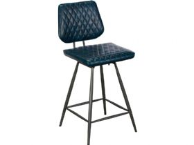 Dark Blue Bar Stool