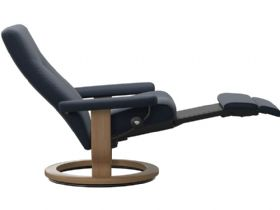Ekornes Dover Power Recliner in Oxford Blue