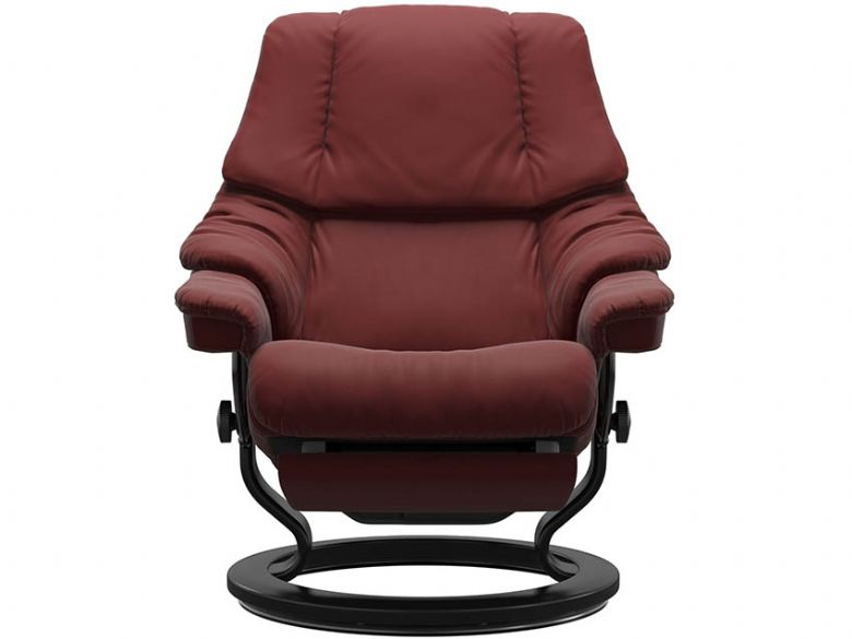 Stressless Reno Power Recliner Paloma Cherry with Black base