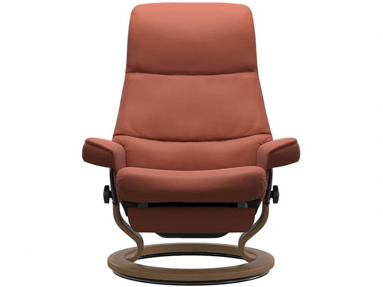 Stressless by Ekornes View Recliner Chair in Paloma Henna