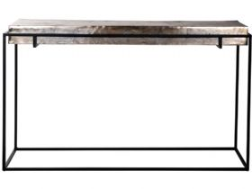 Dolce Aluminium Top Console Table