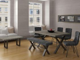 Grey Stone Effect Dining Range