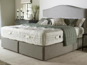 Harrison Burford double divan and mattress with ChemFRee ticking