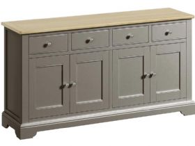 Grey 4 Door Sideboard