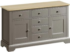 Grey 2 Door 6 Drawer Sideboard