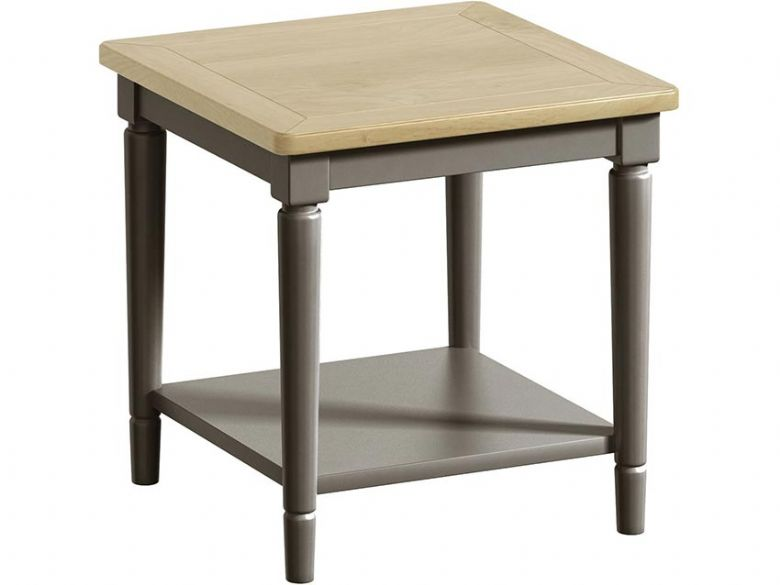 Solent Grey Lamp Table