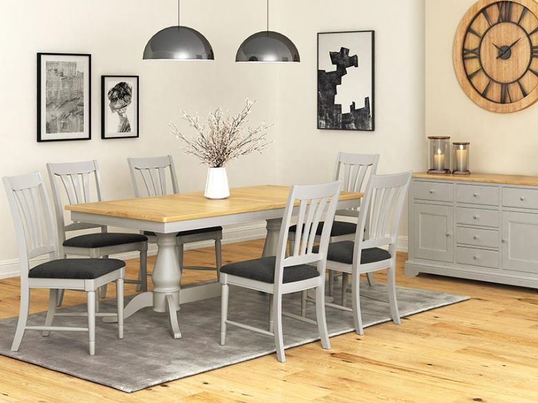 Solent Grey Dining Range Rectangular Table