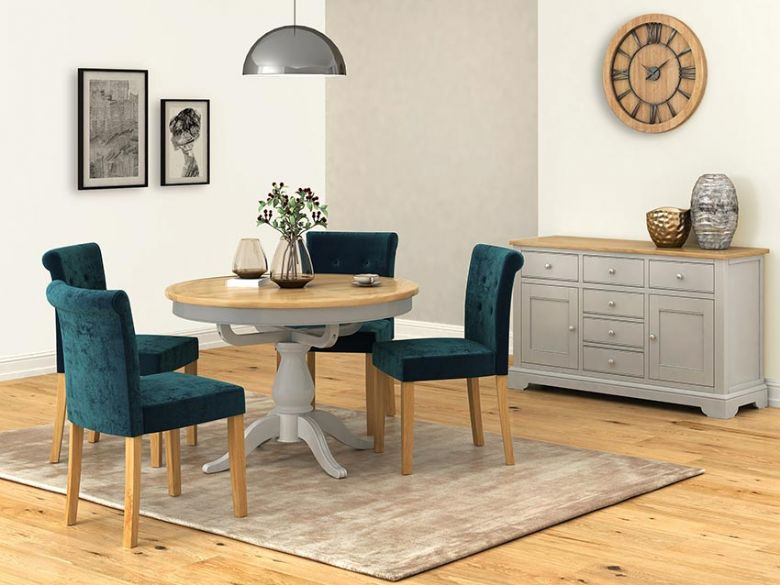 Solent Painted Grey Dining Range Round Dining Table