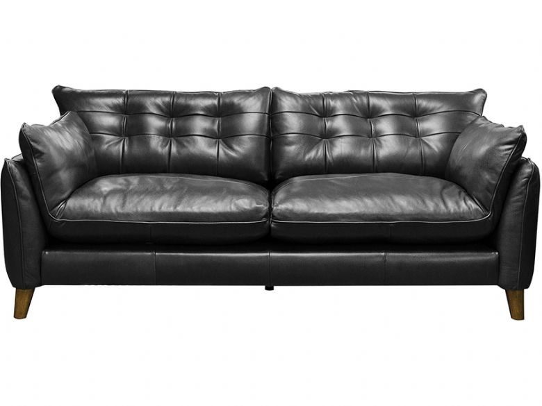 Fredrik blue leather 3 seater sofa available at Lee Longlands