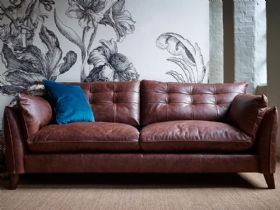Fredrik leather 3 seater sofa interest free credit available