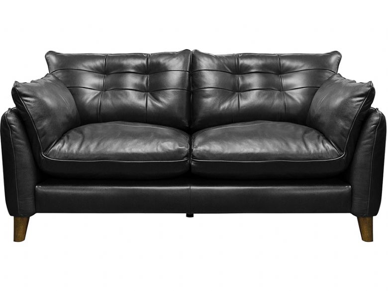 Fredrik modern blue leather 2 seater sofa available at Lee Longlands