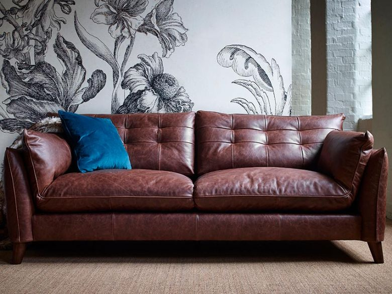 Fredrik contemporary leather sofas and chairs delivered to your room of choice