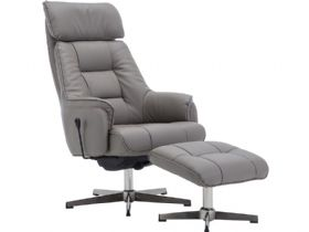 Swivel Recliner Chair & Stool