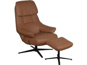 Swivel Recliner Chair and Stool