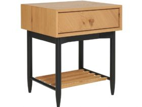 Ercol Monza 1 Drawer Bedside Cabinet