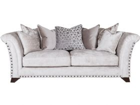 Lana Pillow Back Fabric 3 Seater Sofa