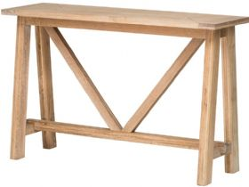 Narvik oak console table available at Lee Longlands