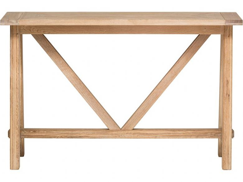 Narvik wood 130cm console table available at Lee Longlands