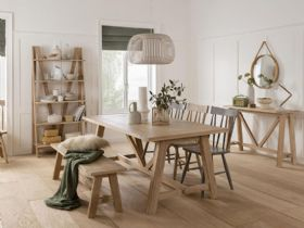 Narvik wood dining collection available at Lee Longlands