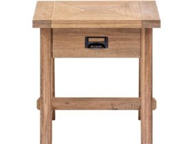 Narvik oak lamp table with drawer available at Lee Longlands
