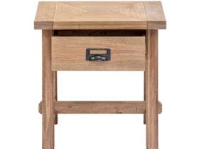 Narvik wooden lamp table with 1 drawer available at Lee Longlands